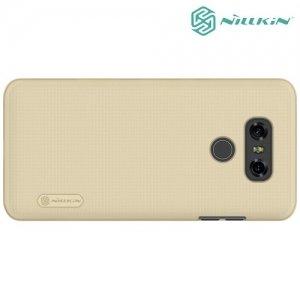 Чехол накладка Nillkin Super Frosted Shield для LG G6 H870DS - Золотой
