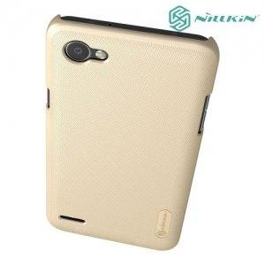 Чехол накладка Nillkin Super Frosted Shield для LG Q6 M700AN / Q6a M700 - Золотой