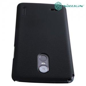 Чехол накладка Nillkin Super Frosted Shield для LG Stylus 3 M400DY - Черный