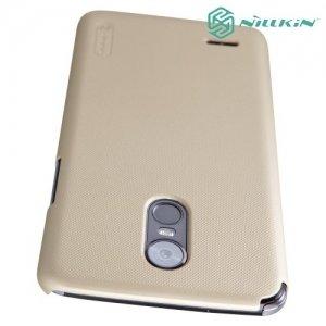 Чехол накладка Nillkin Super Frosted Shield для LG Stylus 3 M400DY - Золотой