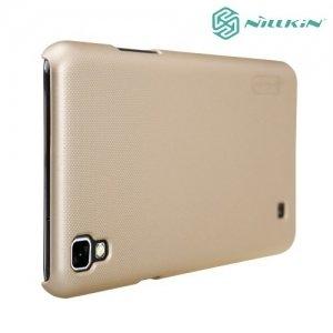 Чехол накладка Nillkin Super Frosted Shield для LG X Power K220DS - Золотой