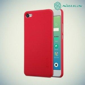 Чехол накладка Nillkin Super Frosted Shield для Meizu m3x - Красный