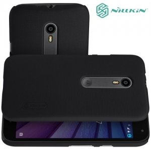 Чехол накладка Nillkin Super Frosted Shield для Motorola Moto G Gen.3 - Черный