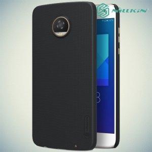 Чехол накладка Nillkin Super Frosted Shield для Motorola Moto Z2 Play - Черный