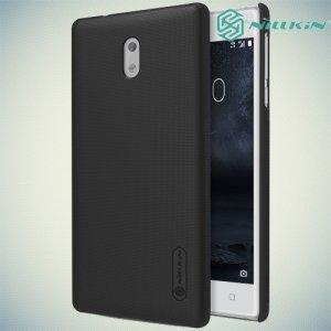 Чехол накладка Nillkin Super Frosted Shield для Nokia 3 - Черный