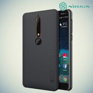 Чехол накладка Nillkin Super Frosted Shield для Nokia 6.1 2018 - Черный