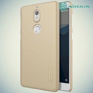 Чехол накладка Nillkin Super Frosted Shield для Nokia 7 - Золотой