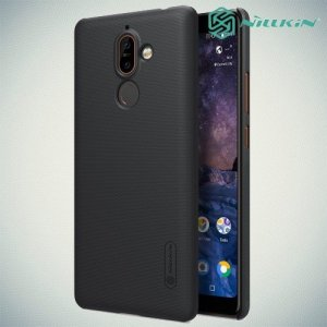 Чехол накладка Nillkin Super Frosted Shield для Nokia 7 Plus - Черный