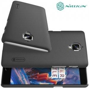 Чехол накладка Nillkin Super Frosted Shield для OnePlus 3 - Черный