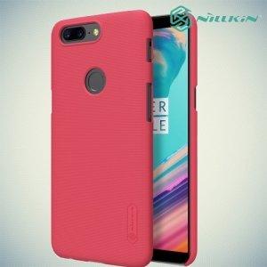 Чехол накладка Nillkin Super Frosted Shield для OnePlus 5T - Красный