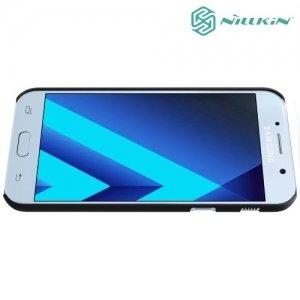 Чехол накладка Nillkin Super Frosted Shield для Samsung Galaxy A3 2017 SM-A320F - Черный