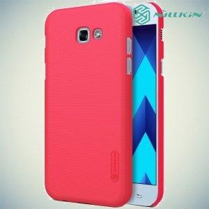 Чехол накладка Nillkin Super Frosted Shield для Samsung Galaxy A3 2017 SM-A320F - Красный