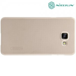 Чехол накладка Nillkin Super Frosted Shield для Samsung Galaxy A5 2016 SM-A510F - Золотой