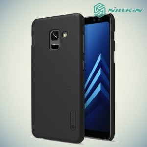 Чехол накладка Nillkin Super Frosted Shield для Samsung Galaxy A8 2018 - Черный