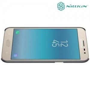 Чехол накладка Nillkin Super Frosted Shield для Samsung Galaxy J2 (2018) SM-J250F - Черный