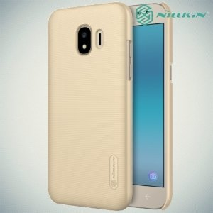Чехол накладка Nillkin Super Frosted Shield для Samsung Galaxy J2 (2018) SM-J250F - Золотой