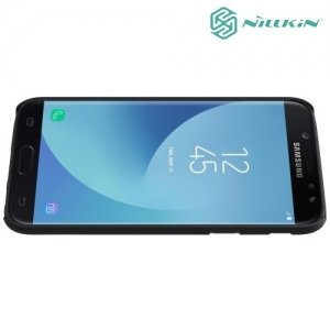 Чехол накладка Nillkin Super Frosted Shield для Samsung Galaxy J5 2017 SM-J530F - Черный