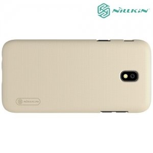 Чехол накладка Nillkin Super Frosted Shield для Samsung Galaxy J5 2017 SM-J530F - Золотой