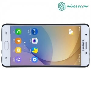 Чехол накладка Nillkin Super Frosted Shield для Samsung Galaxy J5 Prime - Черный