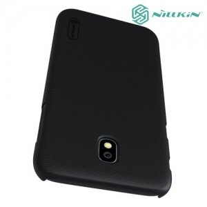 Чехол накладка Nillkin Super Frosted Shield для Samsung Galaxy J7 2017 SM-J730F - Черный