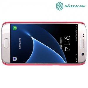 Чехол накладка Nillkin Super Frosted Shield для Samsung Galaxy S7 - Красный