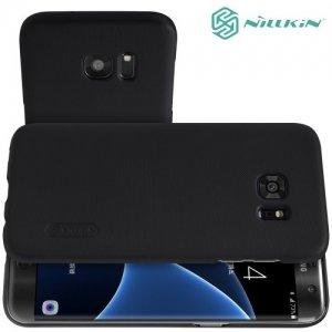 Чехол накладка Nillkin Super Frosted Shield для Samsung Galaxy S7 Edge - Черный