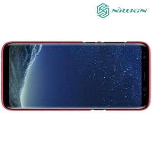 Чехол накладка Nillkin Super Frosted Shield для Samsung Galaxy S8 Plus - Красный