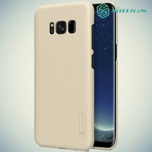 Чехол накладка Nillkin Super Frosted Shield для Samsung Galaxy S8 Plus - Золотой