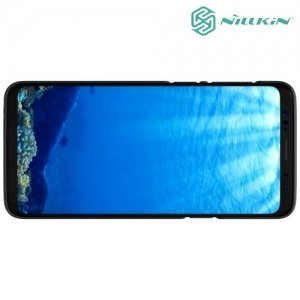 Чехол накладка Nillkin Super Frosted Shield для Samsung Galaxy S9 - Черный