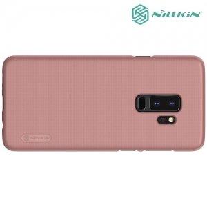 Чехол накладка Nillkin Super Frosted Shield для Samsung Galaxy S9 Plus - розовое золото