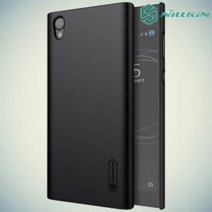 Чехол накладка Nillkin Super Frosted Shield для Sony Xperia L1 - Черный