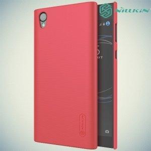 Чехол накладка Nillkin Super Frosted Shield для Sony Xperia L1 - Красный