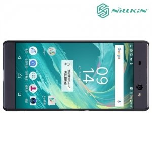 Чехол накладка Nillkin Super Frosted Shield для Sony Xperia XA Ultra - Черный