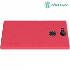 Чехол накладка Nillkin Super Frosted Shield для Sony Xperia XA2 - Красный