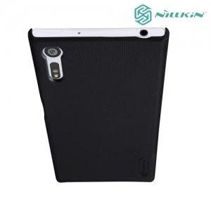 Чехол накладка Nillkin Super Frosted Shield для Sony Xperia XZ / XZs - Черный