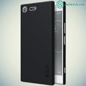 Чехол накладка Nillkin Super Frosted Shield для Sony Xperia XZ Premium - Черный