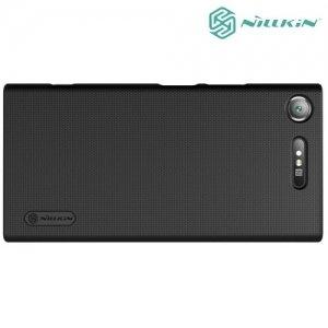 Чехол накладка Nillkin Super Frosted Shield для Sony Xperia XZ1 - Черный