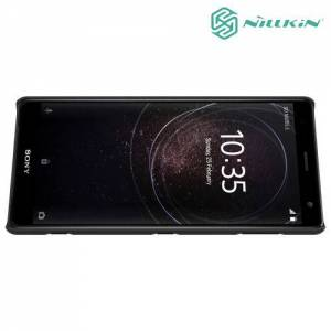 Чехол накладка Nillkin Super Frosted Shield для Sony Xperia XZ2 - Черный
