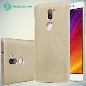 Чехол накладка Nillkin Super Frosted Shield для Xiaomi Mi 5s Plus - Золотой