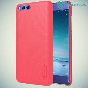 Чехол накладка Nillkin Super Frosted Shield для Xiaomi Mi 6 - Красный
