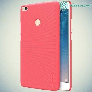 Чехол накладка Nillkin Super Frosted Shield для Xiaomi Mi Max 2 - Красный