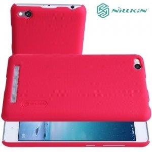 Чехол накладка Nillkin Super Frosted Shield для Xiaomi Redmi 3 - Красный