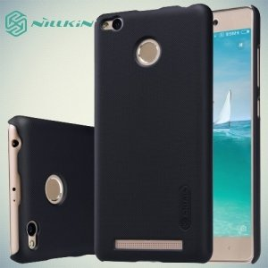 Чехол накладка Nillkin Super Frosted Shield для Xiaomi Redmi 3 Pro / 3s - Черный