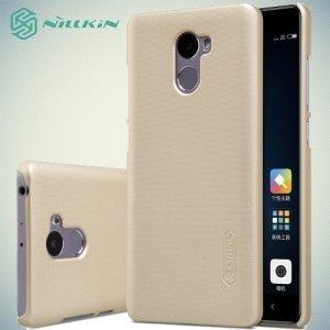 Чехол накладка Nillkin Super Frosted Shield для Xiaomi Redmi 4 - Золотой