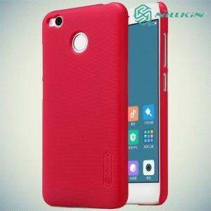 Чехол накладка Nillkin Super Frosted Shield для Xiaomi Redmi 4X - Красный