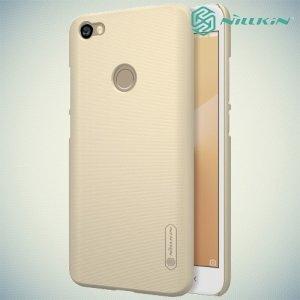 Чехол накладка Nillkin Super Frosted Shield для Xiaomi Redmi Note 5A 3/32GB - Золотой
