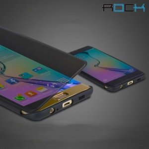 Чехол ROCK с прозрачной обложкой для Samsung Galaxy S6 Edge+