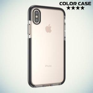 Чехол с бампером для iPhone Xs / X - Прозрачный с черным