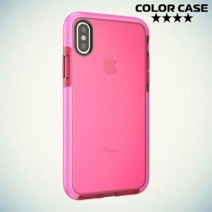 Чехол с бампером для iPhone X - Розовый
