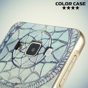 Чехол с металлическим бампером для Samsung Galaxy А3 - с рисунком Ловец снов